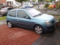 Renault Clio 1.2 16v Extreme 52 reg Met Blue- Bargain £395