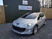 2007 PEUGEOT 308 2.0 HDI GT SPORT, LOW MILES, SERVICE HISTORY, SERVICED, 136BHP, PAN ROOF, TWO KEYS