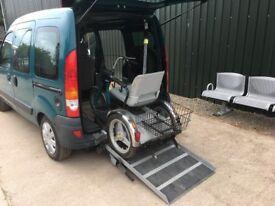 Renault kangoo - automatic wheelchair access vehicle WAV