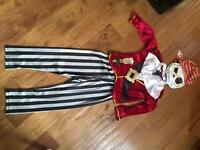 Boys pirate outfit includes hat and eye patch