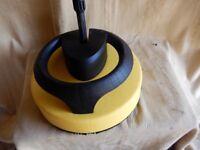 Rotary pressure washer brush