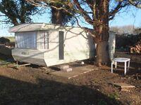 Static caravan in quiet rural location
