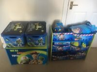 Toy story bedroom storage / toy box with extras
