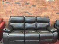 Harvey's Ex Display Leather 3 Seater Sofa - RRP £699 - UK Delivery