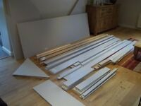 Excess wardrobe materials - panels and lengths of mdf (see pics)