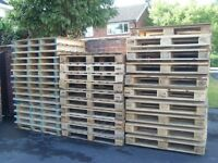 EXCEELLENT CLEAN WOODEN PALLETS FOR FURNITURE,TRANSPORT,BUILDING ETC.DELIVERY POSSIBLE.