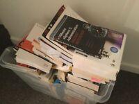 Old computer books, windows, unix, networking, development
