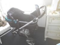 red kite pram with car seat pushchair and pram attachments
