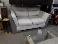 Grey/White Two Tone 2 Seater Sofa