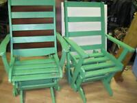 chaise bercente 30$ pour les deux