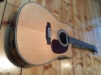 Luna Americana Cutaway AMD 100 - Great Electro Acoustic Guitar.