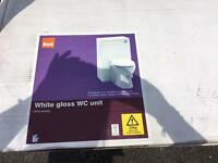 White gloss wc unit only from b &q brand new flat packed