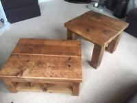 Rustic pine Side unit, Coffee table and Side table