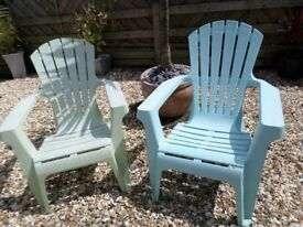2 Colourful Garden Chairs
