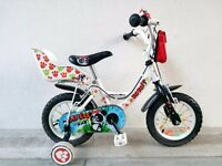 "(2560) 12"" APOLLO LULU Boys Girls Kids Childs Bike Bicycle + STABILISERS Age: 2-4 Height: 85-100 cm"