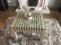 Coffee/side glass topped table