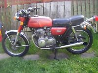 CLASSIC/PROJECT/ HONDA CB350 FOUR/ RARE BIKE/ MOTD AND TAXED/RIDE OR RESTORE/NEEDS WORK/RUNS ROUGH