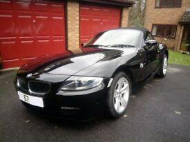 BMW Z4 - 2.0 i SE ROADSTER - 2 DR CONVERTIBLE - MANUAL - PETROL - BLACK - 2007 - FSH