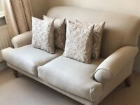 Sofa Com Saturday Two Seater Sofa in Natural Flax Pure Belgian Linen