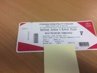 Anthony Joshua Fight Package - 2 x tickets and executive hotel room (2 nights 2 Adults)