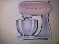 Smeg stand mixer &a stainless steel bowl new