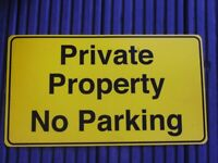 Private Property No Parking Sign NEW