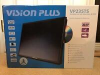 "Vision Plus 23.5"" Portable HD TV + DVD + SAT&FreeView turner"