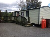 Central Heated Willerby Westmoreland Static Caravan for sale with 2 bedrooms and large decking