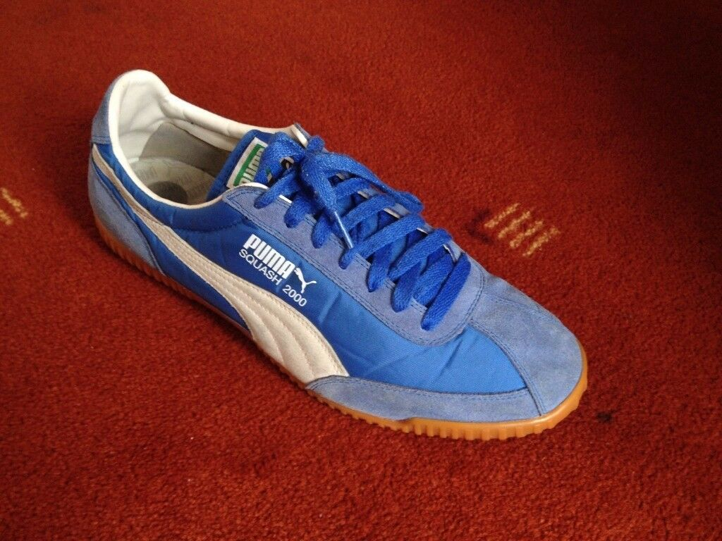 Puma Squash 2000 - 11 Uk - Blue, Used but excellent condition