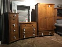 Brand new***Solid rustic oak bedroom set--ONLY £750--more available in this range!
