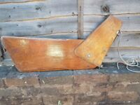 VINTAGE HEAVY MARINE PLYWOOD BOAT RUDDER + FITTING ADVERTISING MARINE HOME DECOR DISPLAY PROP G/C