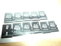 12 Mirco SD Cards 2 GB.