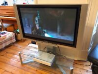 PANASONIC 42 inch Plasma TV & Glass TV Stand