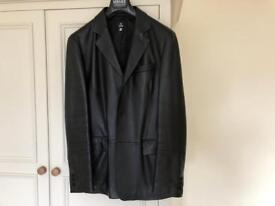 Mens'Versace Black leather jacket