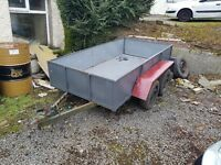 8x4 builders trailer for sale twin axel all steel