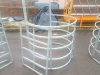 Selection of kissing gates pedestrian right away farm stables tractor