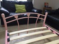 Girls pink single bed frame