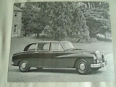 Daimler Limousine Press Photo brochure c1965 No 1