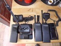 Motorolla GP300 Radios, Fast Charger Etc