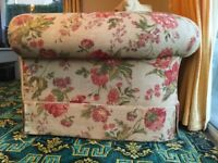 Large 4 seater sofa, free foot stool
