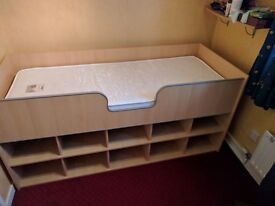 Childs cabin bed with storage