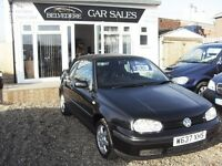 Volkswagen golf 1.6 Convertible (full mot)