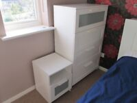 IKEA BRIMNES wide chest of drawers