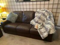 Brown leather Barker And Stonehouse sofa