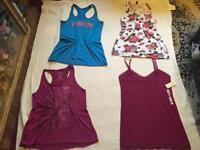 Ladies bundle vest tops 4 items size 16 used &New £8