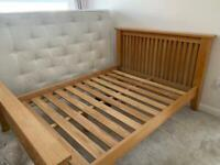 Oak Double Bed Frame Good Condition