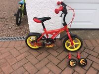 "12"" fire engine bike and little tikes slide"