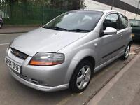 44000 MILES ONLY. 2006 CHEVROLET KALOS 1.4 PETROL. LADY OWNER. ALLOYS. A/C. IDEAL FIRST CAR.