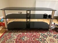 Glass and chrome TV stand - excellent condition