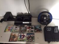 PS3 games controllers and steering wheel